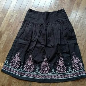 Bob Mackie Dresses & Skirts - Beautifully embroidered brown skirt