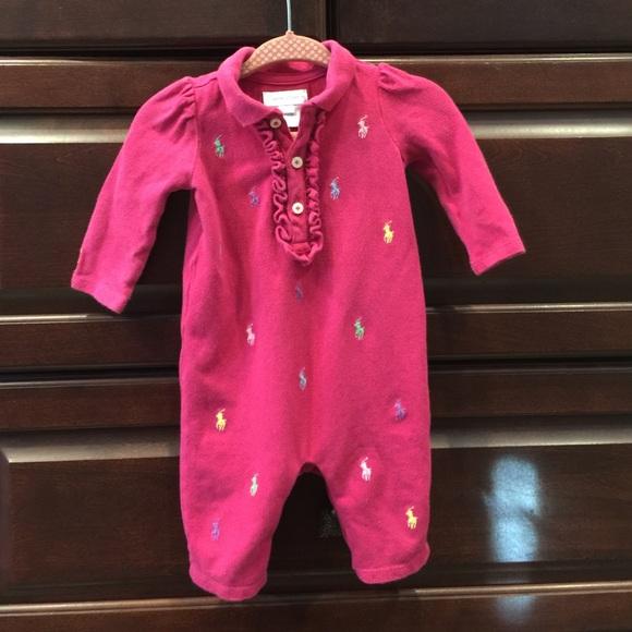 eba666db Ralph Lauren Infants Baby Girl 3 Month Jumpsuit