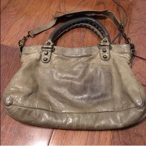 746cbe05c43 Balenciaga Bags - ON HOLD Balenciaga Gray Tan Taupe First Handbag