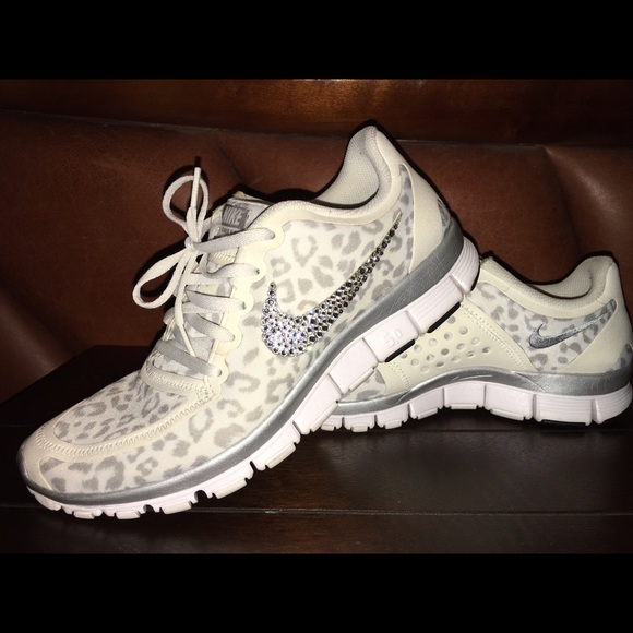 Nike 5.0 v white leopard w  Swarovski crystals. M 56eec83556b2d603a4004108 ece736f038f0