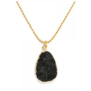 BaubleBar's Geode Chain Pendant in Black