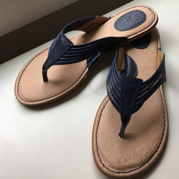 adeccd643401 Born Shoes - Navy blue thong sandals