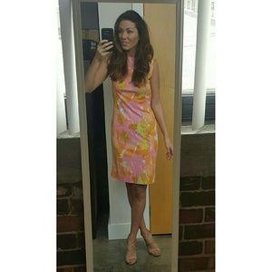Vintage Watercolor Shift Dress