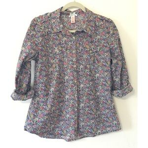 Modcloth Downeast floral blouse Medium
