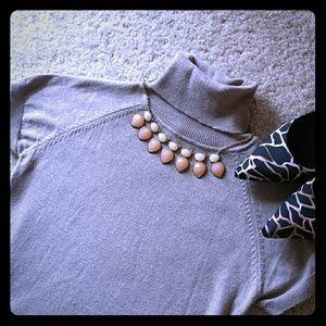ZARA Short sleeve high neck knit top