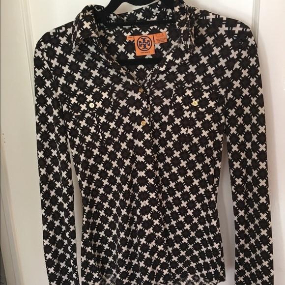 340e0d9eee454 Tory Burch Silk Shirt. M 56eee3f74225be61f1007767