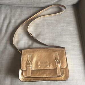 Kate Spade scout crossbody gold bag
