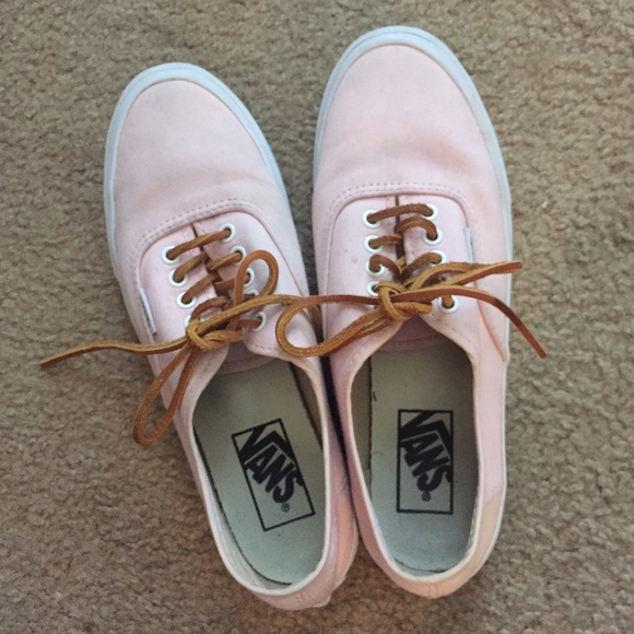 ac5602e9ee Soft pink vans with leather laces. M 56eeeba86d64bcddcd05bb98