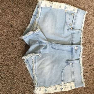 Tractr Other - Tractr denim jean shorts girls sz14 with lace