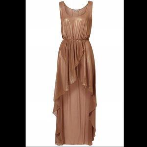 Topshop Gold High/Low Dress