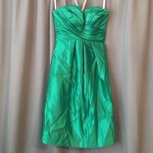 Bill Levkoff Emerald Green Strapless Dress
