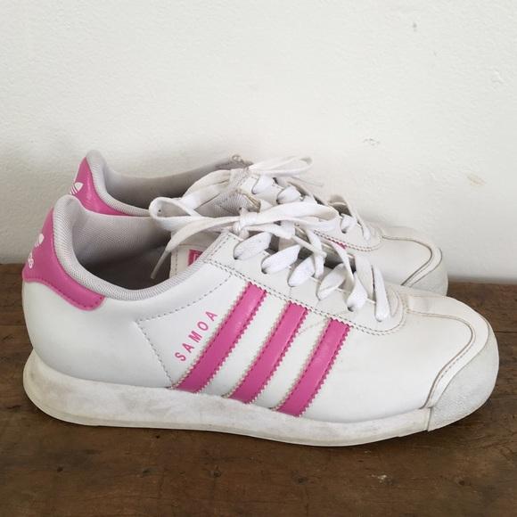 Zapatos tenis adidas Samoa 6 poshmark blanco rosa