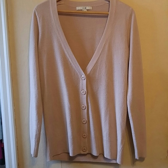 Forever 21 - Light pink xxi size large button-up sweater from ...