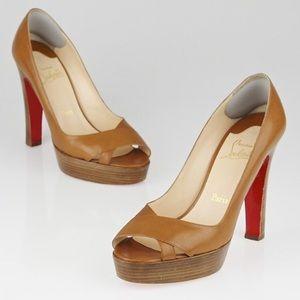 christian louboutin square-toe pumps