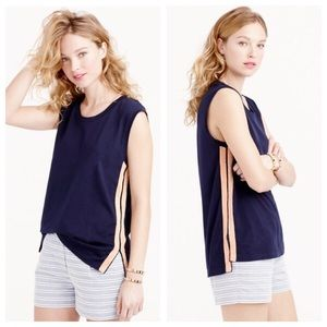 J. Crew Tops - J.Crew metallic side stripe tank in blush