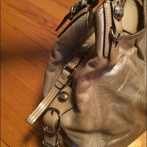 Coach Bags - Coach Beige Sparkly Handbag