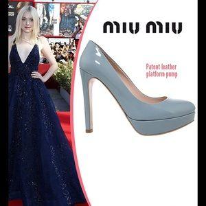 Miu Miu Shoes - Patent leather platform pumps😍