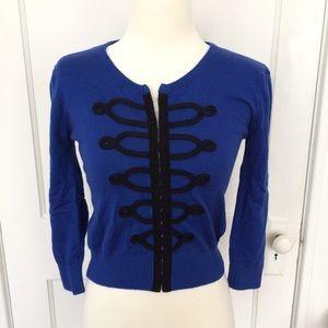 Mango Blue and Black Sweater