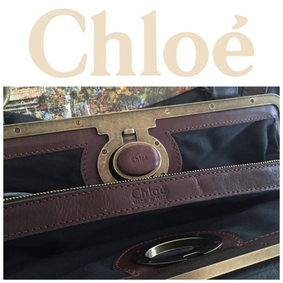 chloe messenger bag marcie - 95% off Chloe Handbags - Chloe Vintage Kisslock Handbag Made in ...