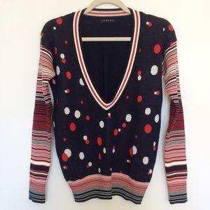 Sisley Sweaters - Sisley red and white polka dot sweater