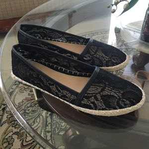 Shoes - Black lace espadrilles