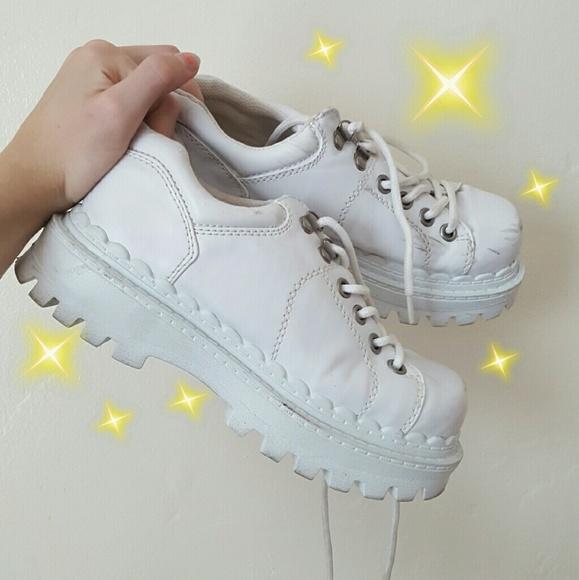 Chunky White Soda Platform Sneakers So
