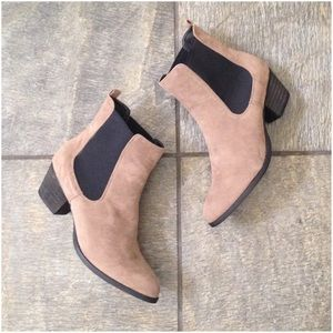 C. Label Shoes - C. Label Hannah Taupe Faux Suede Booties NIB