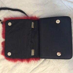 Bags - Red Faux Fur Handbag!