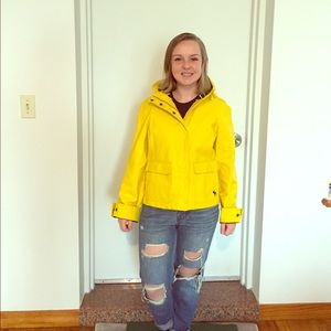 Abercrombie Yellow Rain Jacket