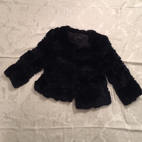 73 Off Diana Rosh Jackets Amp Blazers Diana Rosh Navy Fur