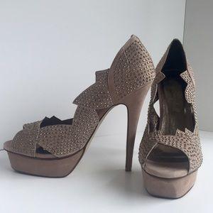 Jeffrey Campbell Shoes - Jeffrey Campbell Beige Suede Heels