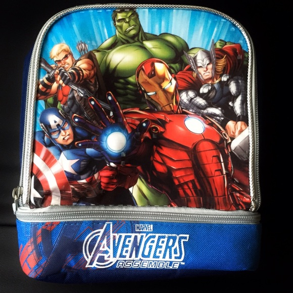 14ded4ec2081 Marvel Avengers Assemble Dual Insulated Lunch Tote NWT