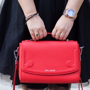 Handbags - Red Miss Locker Bag!