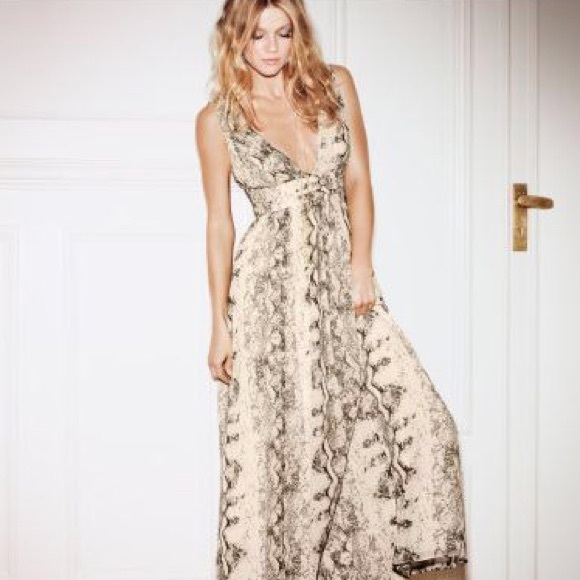 H&M Dresses | Hm Snake Print Evening Dress | Poshmark