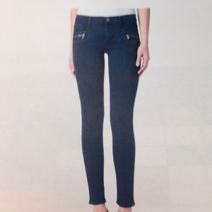 Hudson Chimera Zipper Super Skinny Jeans