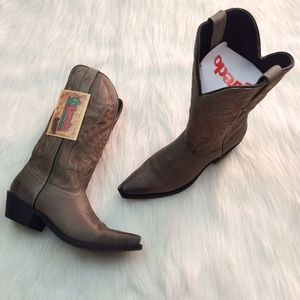 Laredo Shoes - Dan Post 51127 Laredo Lad Gray 12 Snip Cowboy Boot