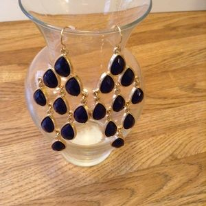 Uncommon Jewelry - Dark blue statement earrings