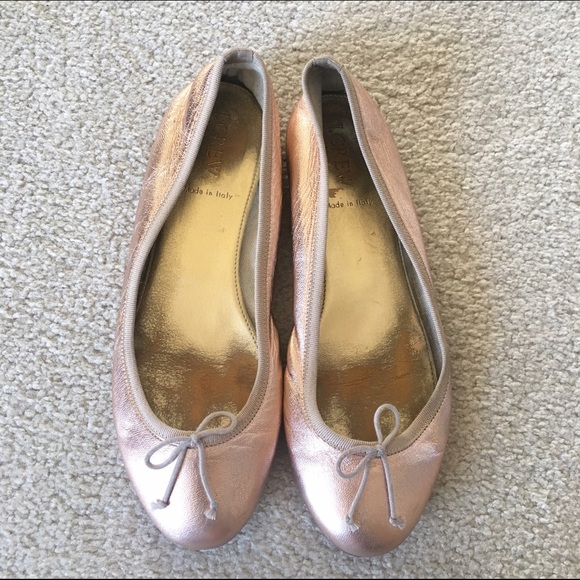 J. Crew Shoes - J.Crew Rose Gold Ballet Flats 9b993606c