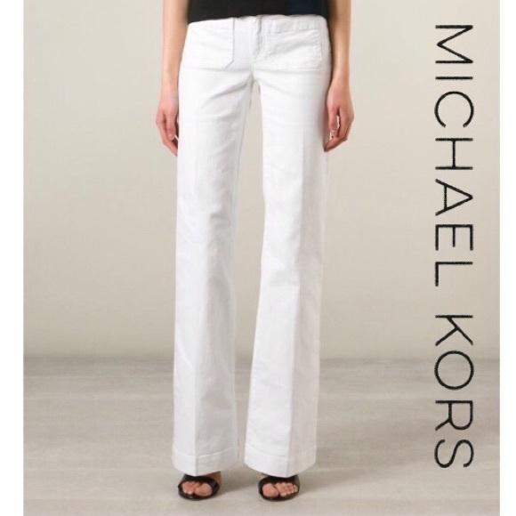 16a5887b4132 MMK Wide Leg White Jeans NWT