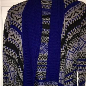 Aztec print cardigan