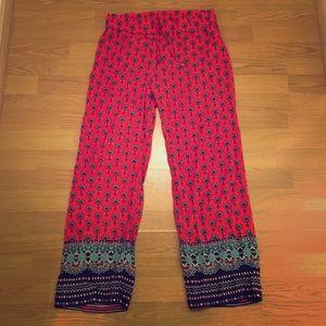 Hester & Orchard Pants - Trendy Patterned Drawstring Pants