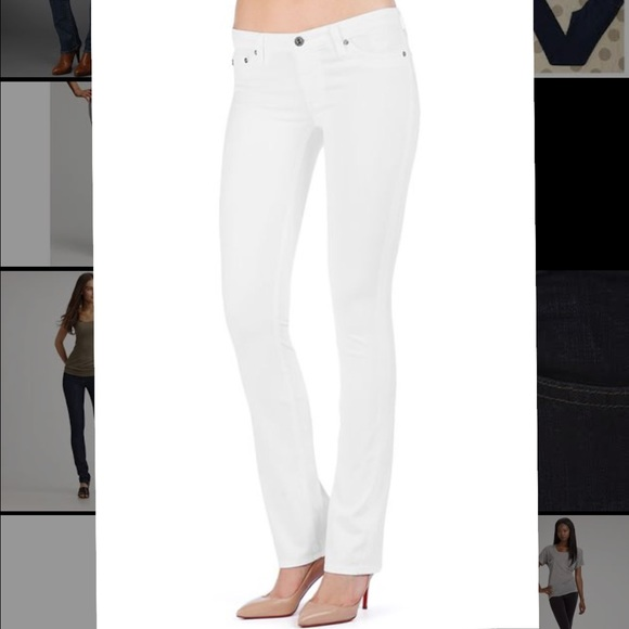 Outlet Locations Cheap Online straight jeans - White AG - Adriano Goldschmied Clearance Shop Discount Really qglpIe