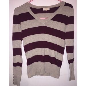 Ambiance Apparel Sweaters - Striped sweater