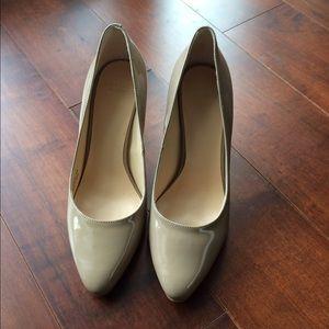 Cole Haan heels in patent sand