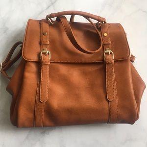 Sole Society Handbags - Cognac color messenger bag