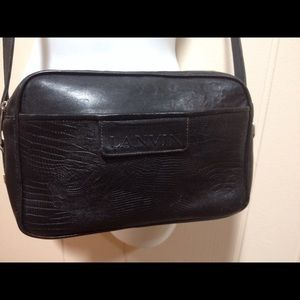 Lanvin black leather shoulder bag