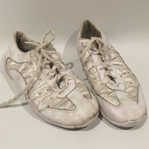 Kids White Cheer Shoes