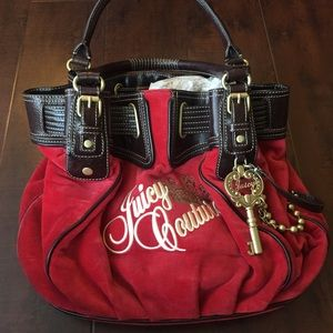 Juicy Couture Handbags - Juicy Couture Red Velvet Bag