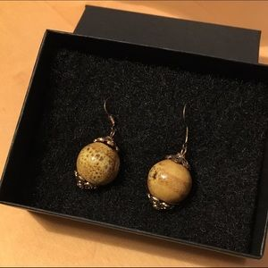 Ceramic bead earrings