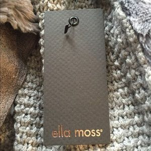 Ella Moss Jackets & Coats - Ella Moss Gray Nico Faux Fur Vest